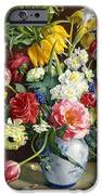 Flowers In A Blue And White Vase IPhone Case by R Klausner
