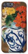 Flowers In A Blue Vase IPhone Case by Odilon Redon