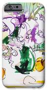 Flowers In Green Vase IPhone Case by Becky Kim