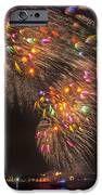 Flying Feathers Of Boston Fireworks IPhone Case by Sylvia J Zarco