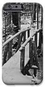 Foot Bridge In Winter IPhone Case by David Rucker