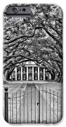 Gateway To The Old South Bw IPhone Case by Steve Harrington