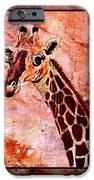 Gentle Giraffe IPhone Case by Sylvie Heasman