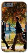 Girls Jogging On An Autumn Day IPhone Case by Susan Savad