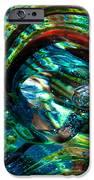 Glass Macro - Blue Green Swirls IPhone Case by David Patterson