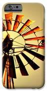 Golden Light Windmill IPhone Case by Marty Koch