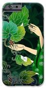 Grape Picking IPhone Case by Bedros Awak