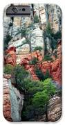 Gray And Orange Sedona Cliff IPhone Case by Carol Groenen
