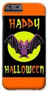 Happy Halloween Bat IPhone Case by Amy Vangsgard