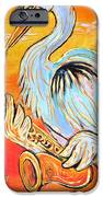 Heron The Blues IPhone Case by Robert Ponzio