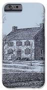 Hezekiah Alexander House Etching IPhone Case by Charles Roy Smith