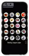Hockey League Logos Bottle Caps IPhone Case by Barbara Griffin