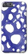 Indigo Bubbles- Contemporary Absrtract Watercolor IPhone Case by Linda Woods