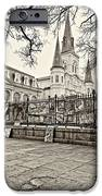 Jackson Square Winter Sepia IPhone Case by Steve Harrington