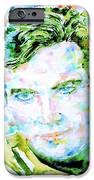 James T. Kirk - Watercolor Portrait IPhone Case by Fabrizio Cassetta