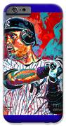 Jeter At Bat IPhone Case by Maria Arango