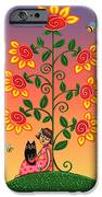 Kitty And Bumblebees IPhone Case by Victoria De Almeida