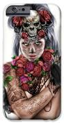 La Calavera Catrina IPhone Case by Pete Tapang