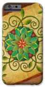 Leaves Rosette 1 IPhone Case by Bedros Awak