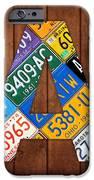 Letter A Alphabet Vintage License Plate Art IPhone Case by Design Turnpike
