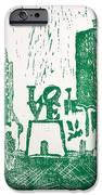 Love Park In Green IPhone Case by Marita McVeigh