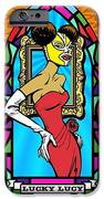 Lucky Lucy The Luchador IPhone Case by Renee Reeser Zelnick