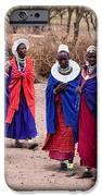 Maasai Women In Front Of Their Village In Tanzania IPhone Case by Michal Bednarek