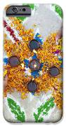 Making Rangoli With Flower Petals And Oil Lamps IPhone Case by Tim Gainey