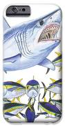 Mako Attack IPhone Case by Carey Chen