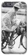 Man Riding Bicycle Carrying Chickens IPhone Case by Stuart Corlett