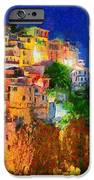 Manarola By Night IPhone Case by George Rossidis