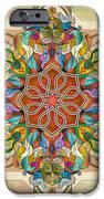 Mandala Birds Sp IPhone Case by Bedros Awak