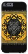 Mandala Obsidian Cross IPhone Case by Bedros Awak