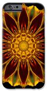 Marigold Flower Mandala IPhone Case by David J Bookbinder