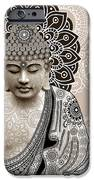 Meditation Mehndi - Paisley Buddha Artwork - Copyrighted IPhone Case by Christopher Beikmann