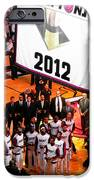 Miami Heat Championship Banner IPhone Case by J Anthony