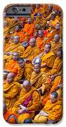Monk Mass Alms Giving In Bangkok IPhone Case by Fototrav Print