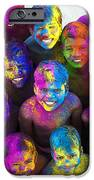 Multicoloured Happy Faces IPhone Case by Tim Gainey