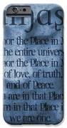 Namaste Blue IPhone Case by Dan Sproul