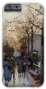 Near The Louvre Paris IPhone Case by Eugene Galien-Laloue