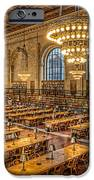 New York Public Library Main Reading Room Ix IPhone Case by Clarence Holmes