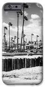 Newport Beach Dory Fishing Fleet Black And White Picture IPhone Case by Paul Velgos
