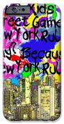 Nyc Kids' Street Games Poster IPhone Case by Bruce Iorio