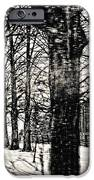 Old Barn Through The Trees Vintage Landscape Art IPhone Case by Miss Dawn