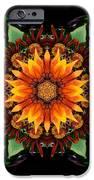 Orange Gazania IIi Flower Mandala IPhone Case by David J Bookbinder