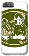 Organic Farmer Crop Harvest Woodcut IPhone Case by Aloysius Patrimonio