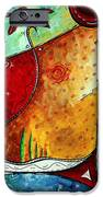 Original Abstract Pop Art Style Colorful Landscape Painting Home To Tuscany By Megan Duncanson IPhone Case by Megan Duncanson