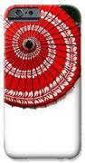Paper Umbrella With Swirl Pattern On Fence IPhone 6s Case by Amy Cicconi