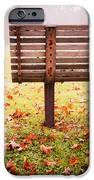 Park Bench In Autumn IPhone Case by Edward Fielding
