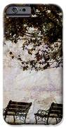 Park Benches Square IPhone Case by Carol Leigh